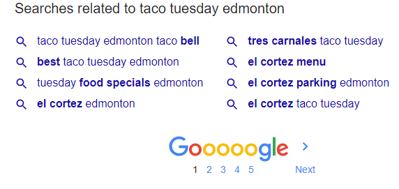 Google Search Suggestion