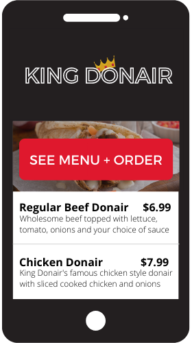 King Donair Online Ordering Demo