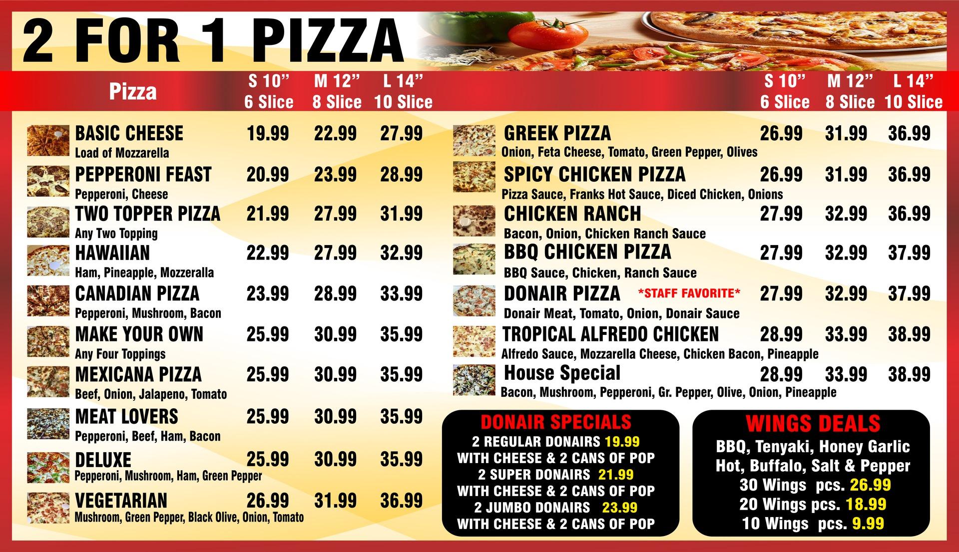 All Hours Pizza TV Design For Digital Signage