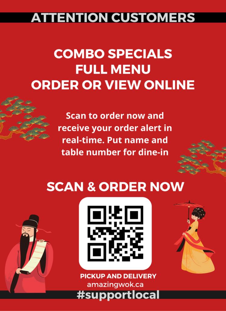 restaurant QR code for the door