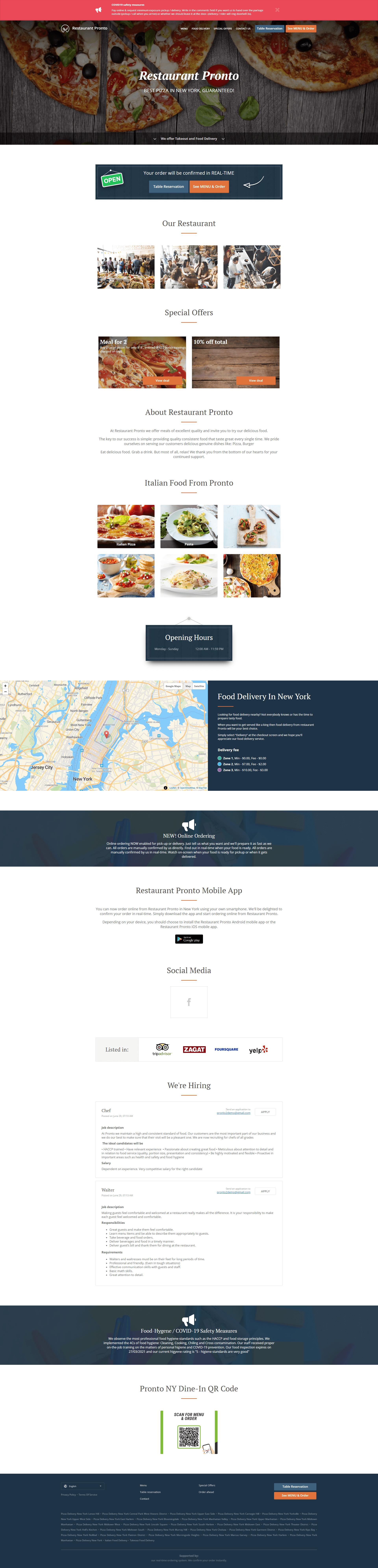 online ordering website demo