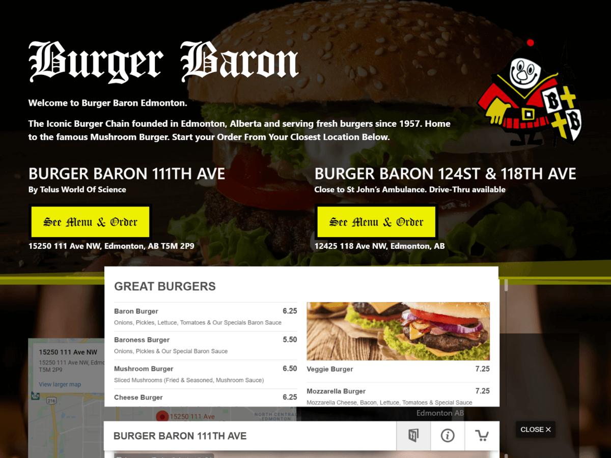 Burger Baron Edmonton