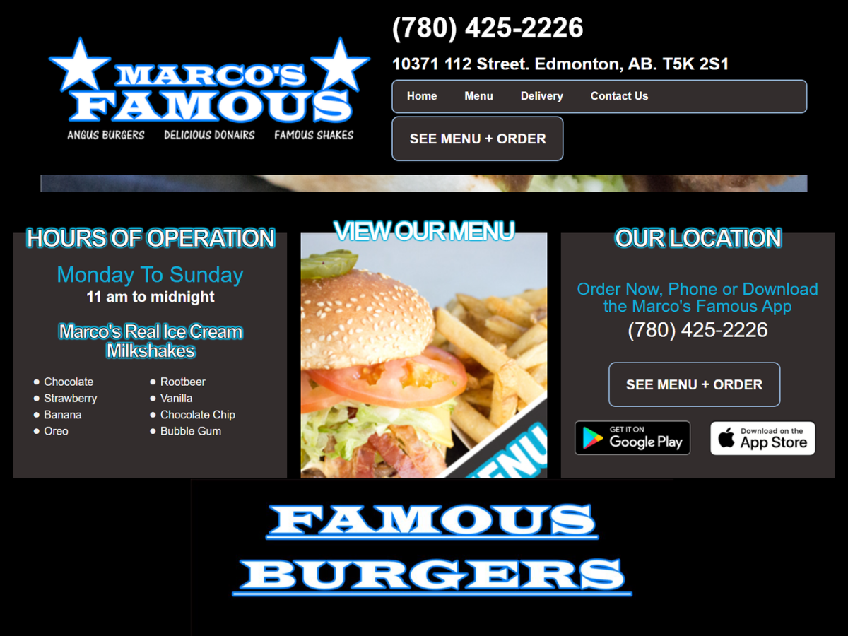 Marcos Famous Website And App